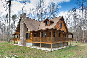 Charming Log Home in Weems